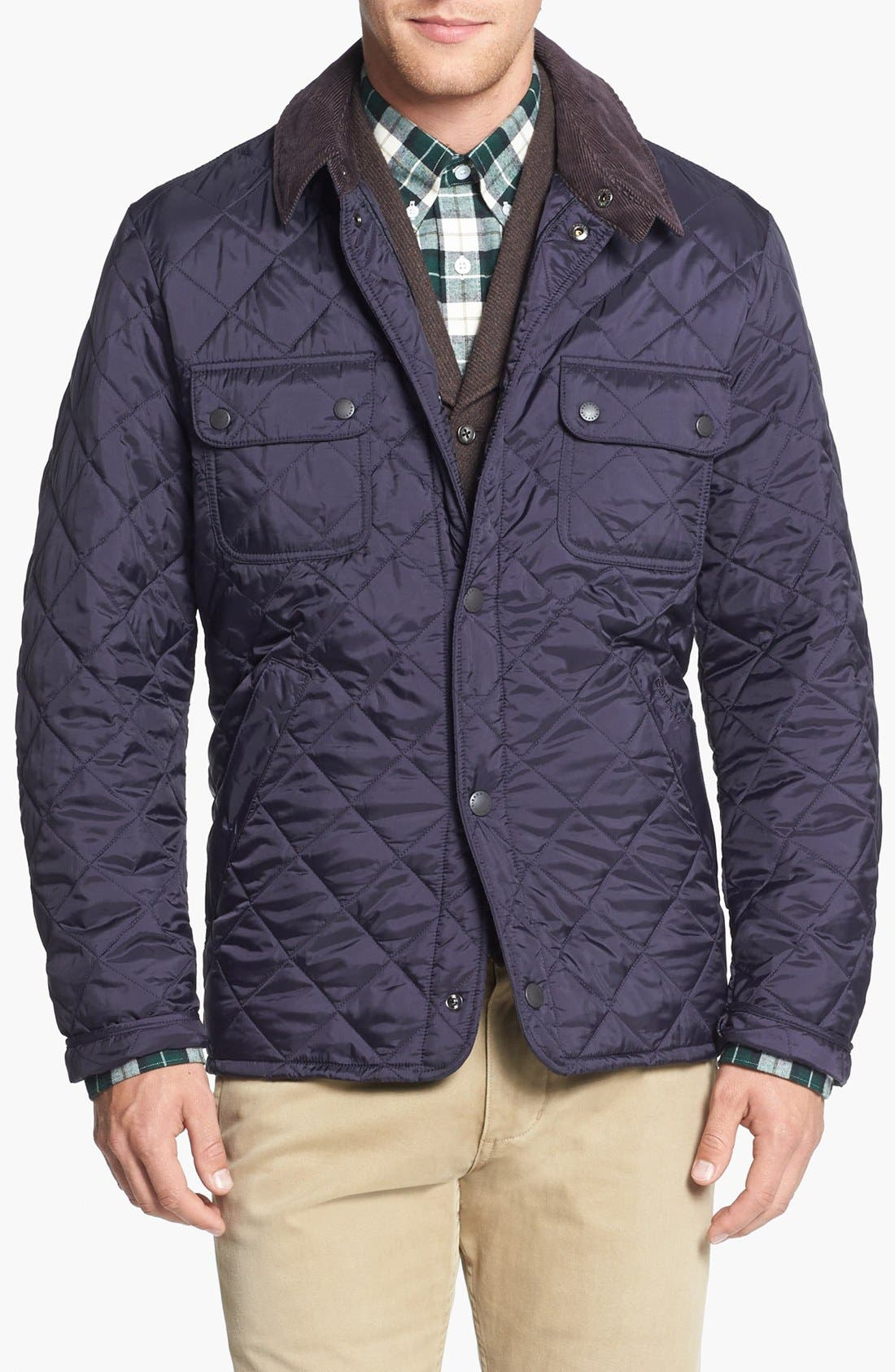 'Tinford' Regular Fit Quilted Jacket,                             Main thumbnail 1, color,                             Navy