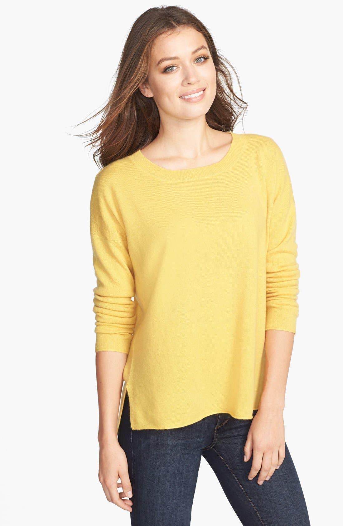 Alternate Image 1 Selected - Pure Amici Cashmere Crewneck Sweater