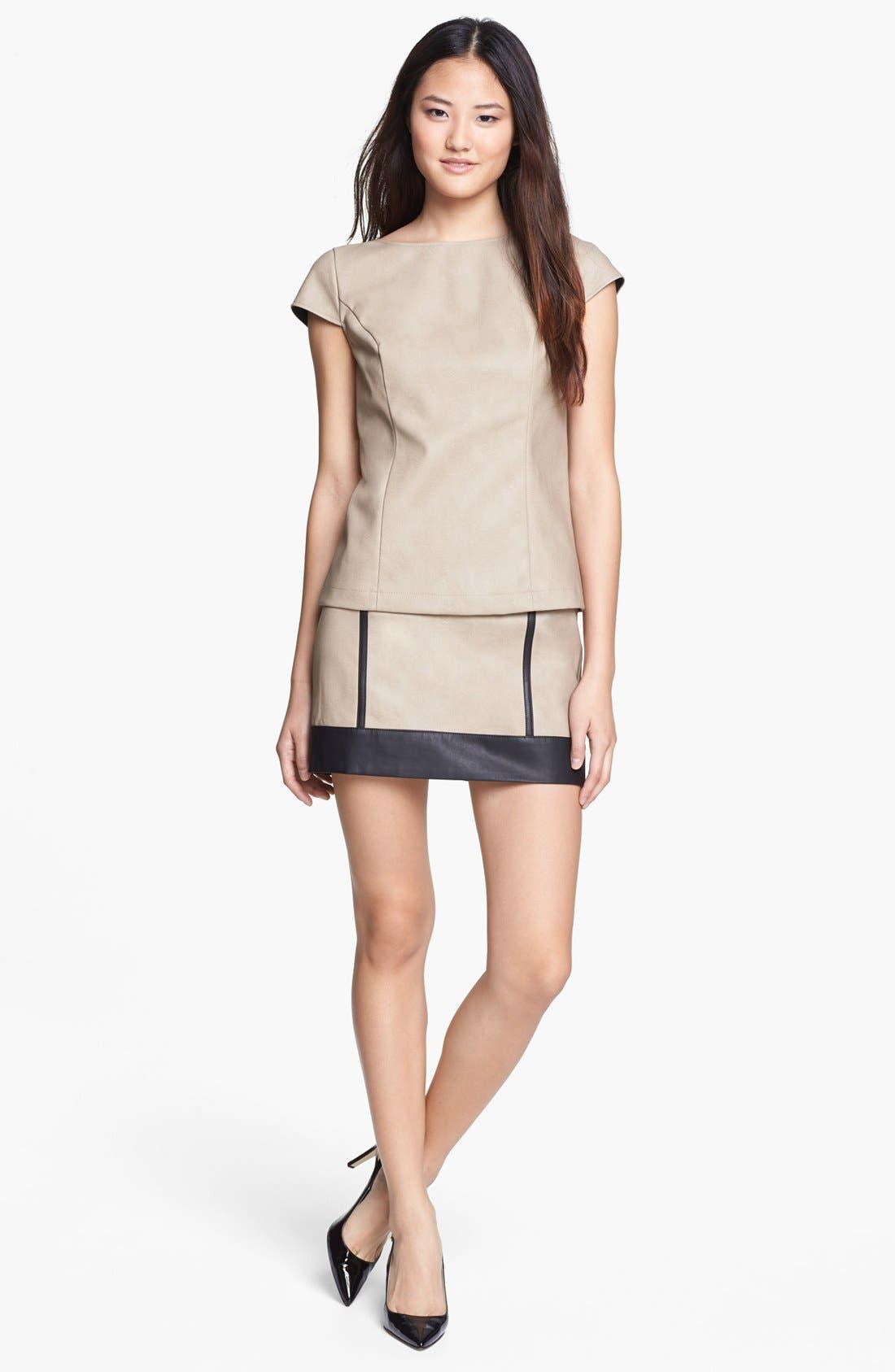 Alternate Image 4  - kensie Faux Leather Top