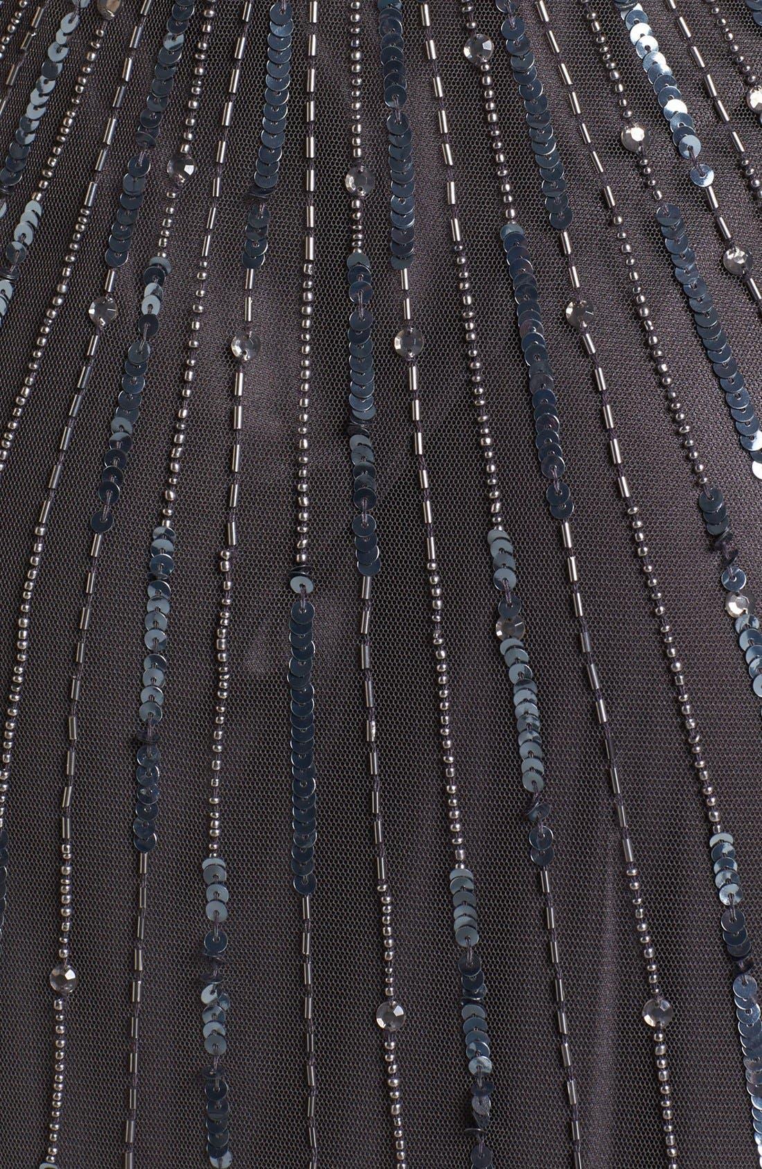 Alternate Image 3  - J Kara Beaded Mesh Blouson Gown