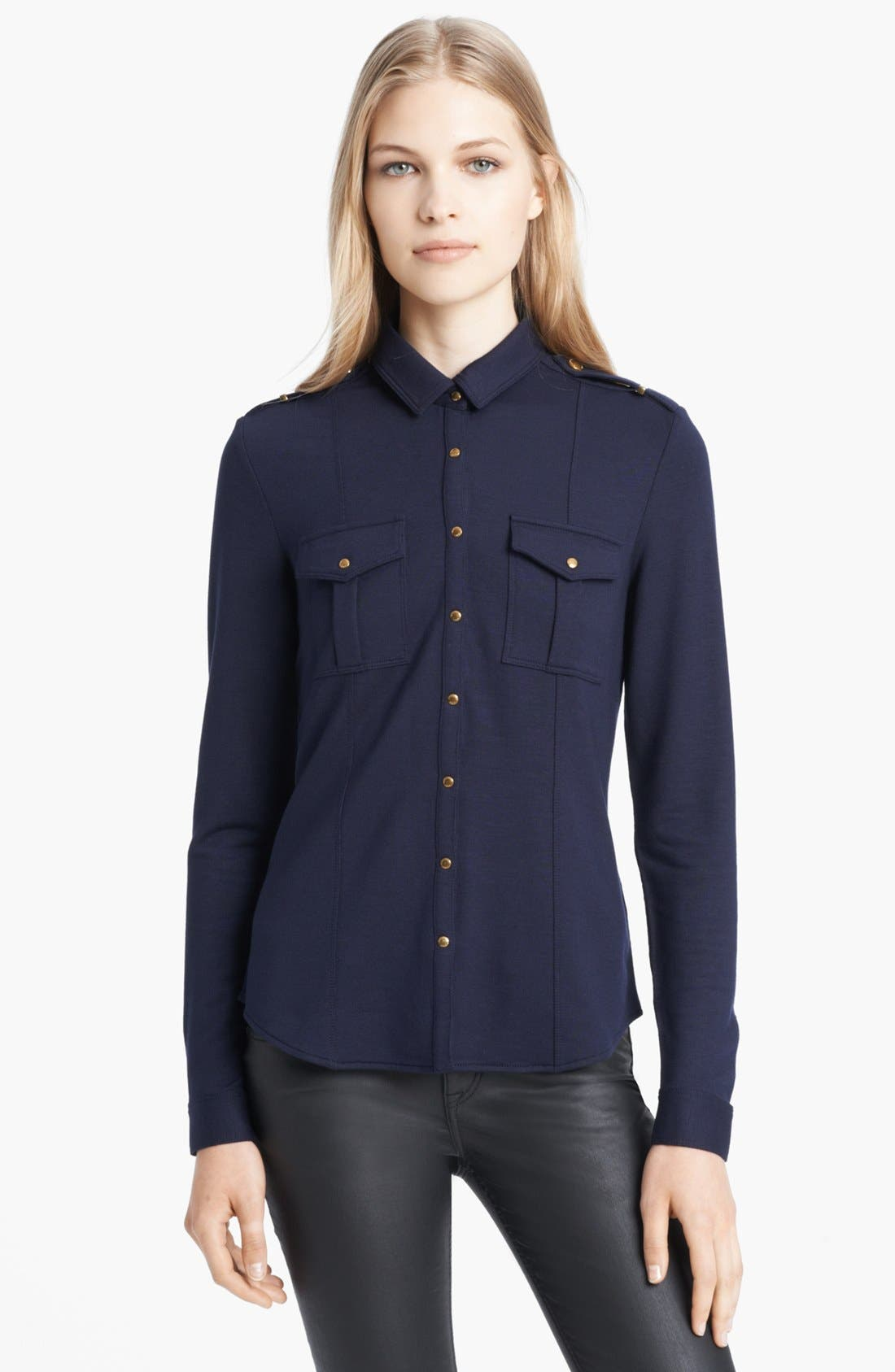 Alternate Image 1 Selected - Burberry Brit Snap Front Knit Shirt