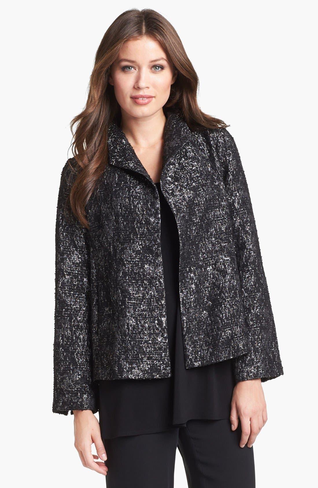 Alternate Image 1 Selected - Eileen Fisher Threaded Satin Jacquard Jacket