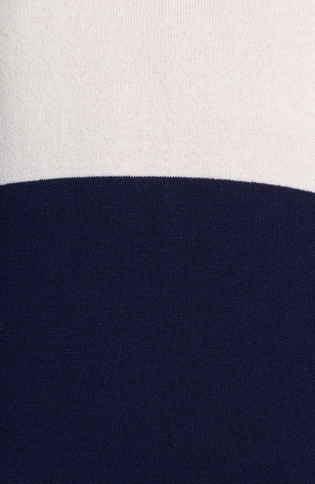 Colorblock Sweater,                             Alternate thumbnail 3, color,                             Navy/ Cream