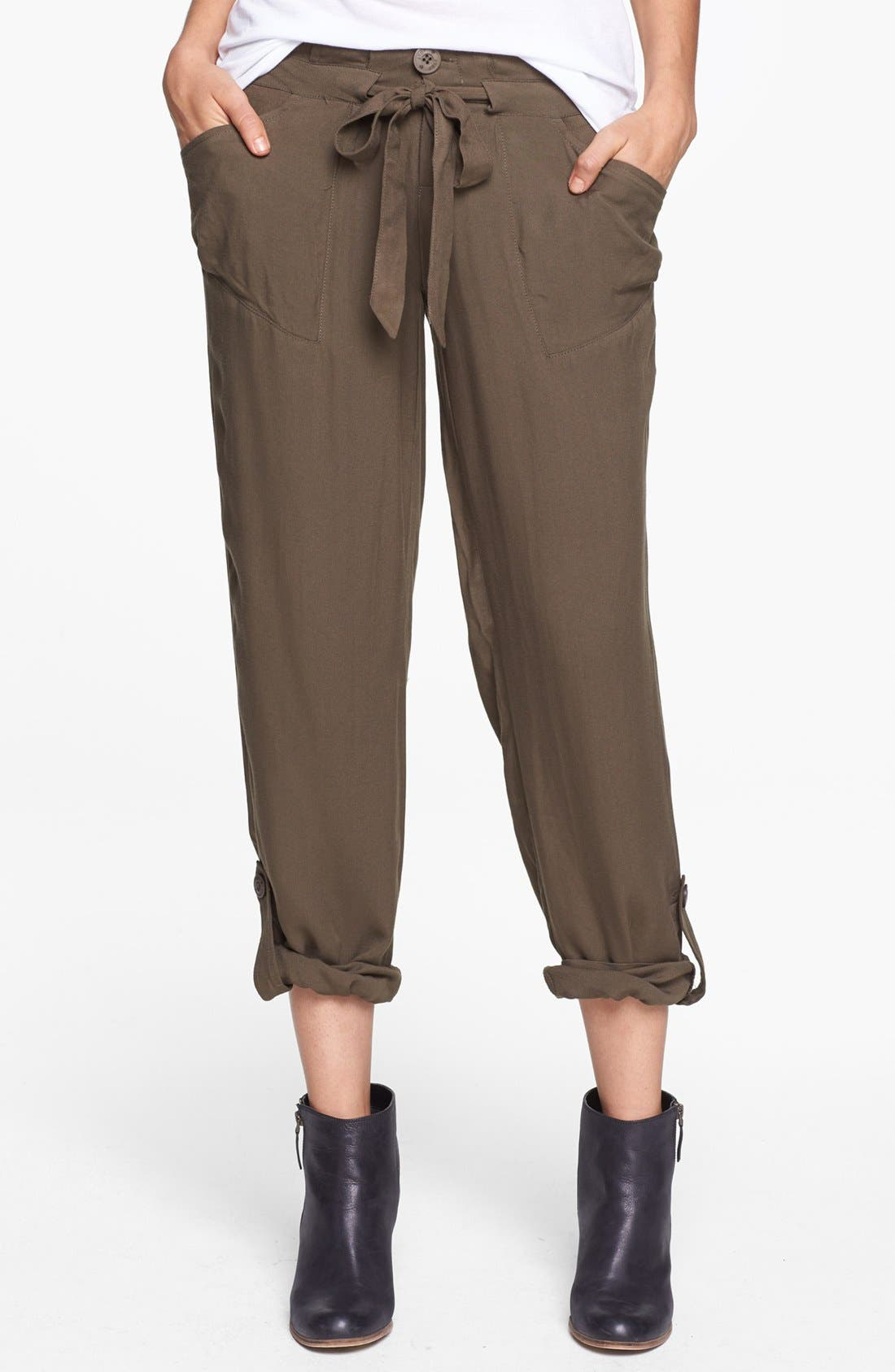 Alternate Image 1 Selected - Jolt Drawstring Woven Pants (Juniors)