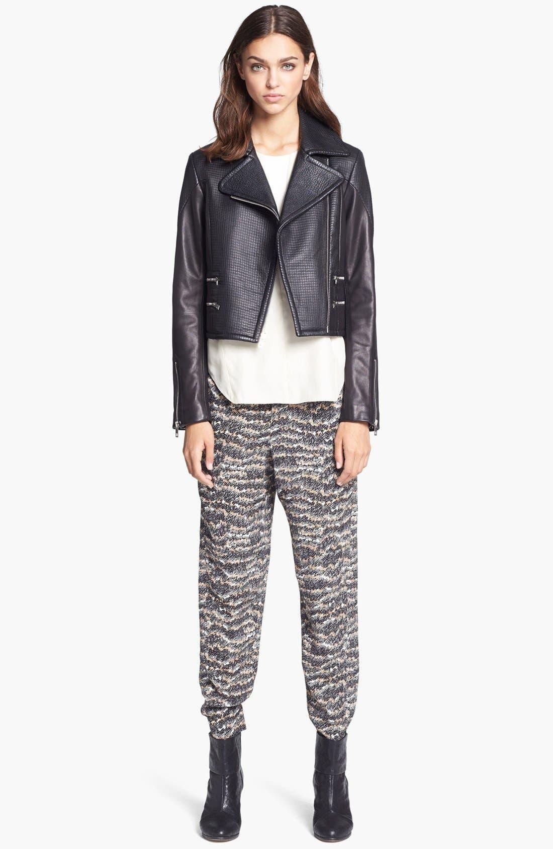 Alternate Image 3  - rag & bone 'Hudson' Deerskin & Lambskin Leather Moto Jacket
