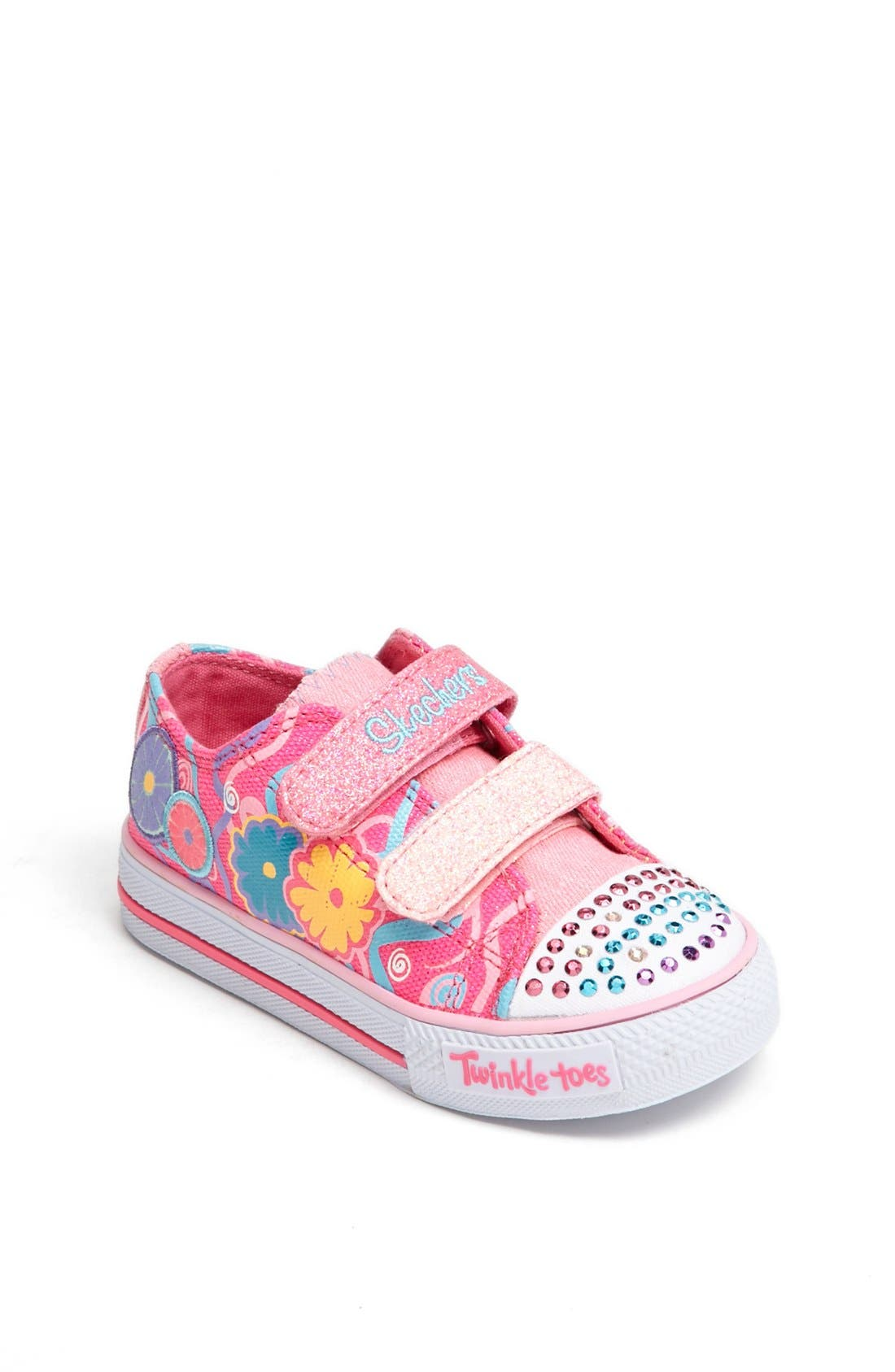 Main Image - SKECHERS 'Twinkle Toes - Sweet Talk' Light-Up Sneaker (Walker & Toddler)