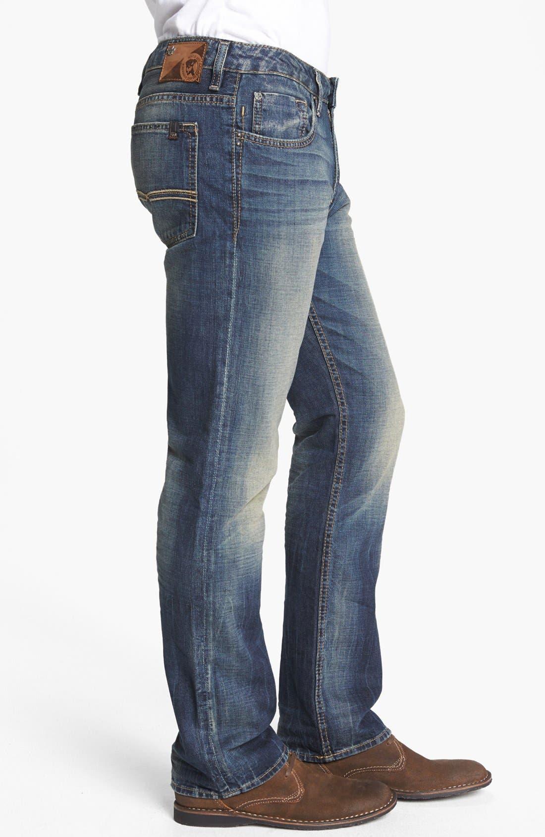 Alternate Image 3  - Buffalo Jeans 'Six' Straight Leg Jeans (Indigo)