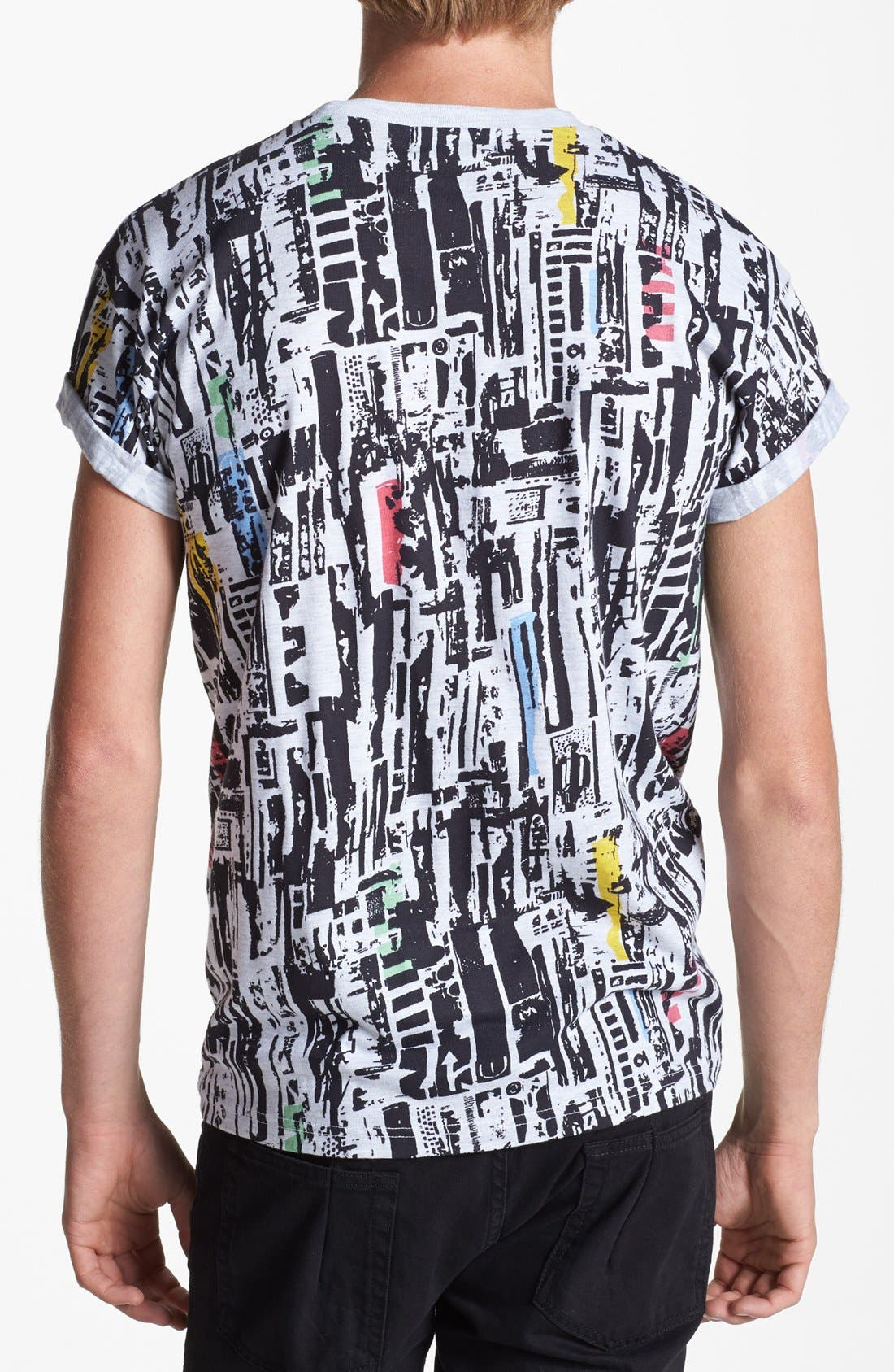 Alternate Image 2  - Topman Scrappy Tile Print T-Shirt