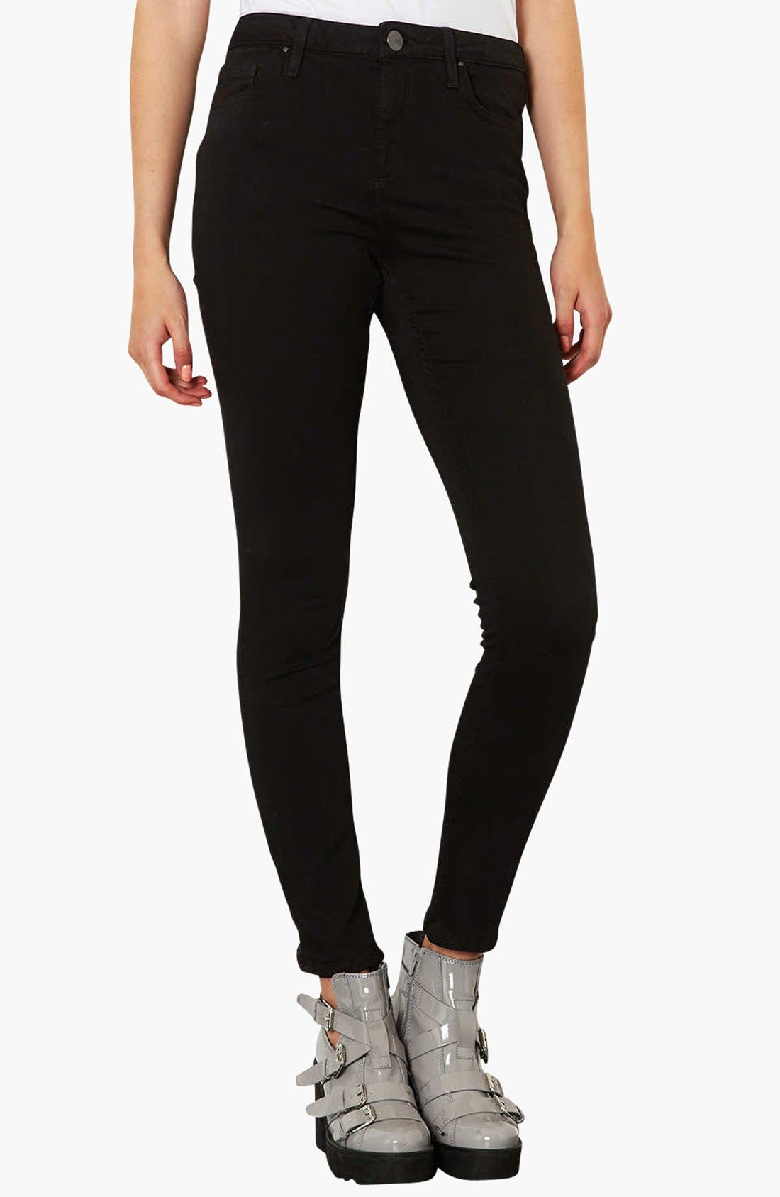 Main Image - Topshop Moto 'Jamie' High Rise Skinny Jeans (Regular, Short & Long)