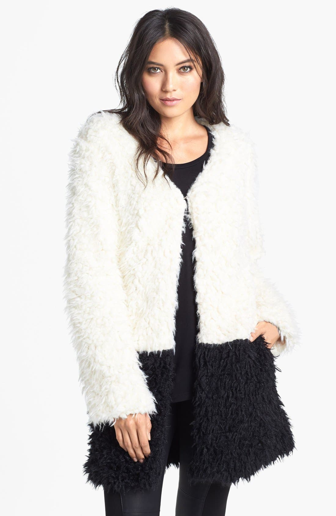 Alternate Image 1 Selected - MINKPINK Faux Fur Coat