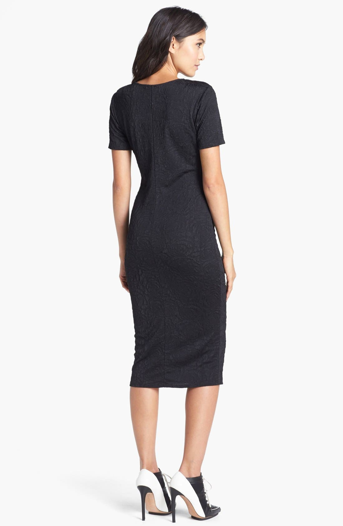 Alternate Image 2  - Tildon Textured Body-Con Dress