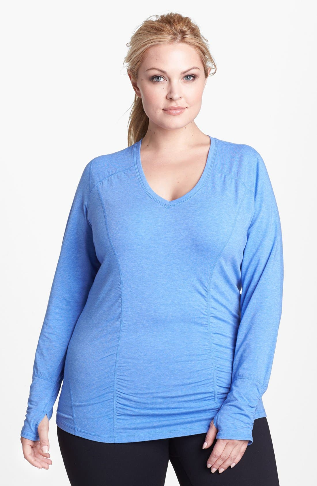 Alternate Image 1 Selected - Zella 'Z 5' Long Sleeve Tee (Plus Size)