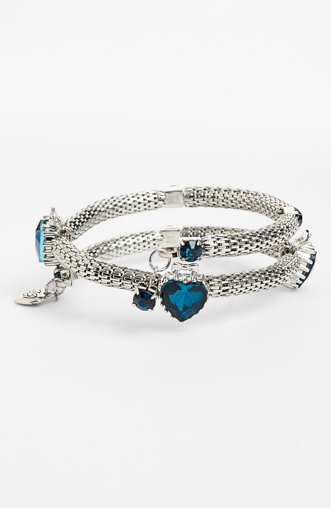 Alternate Image 1 Selected - Betsey Johnson 'Wear It Where?' Heart Coil Bracelet