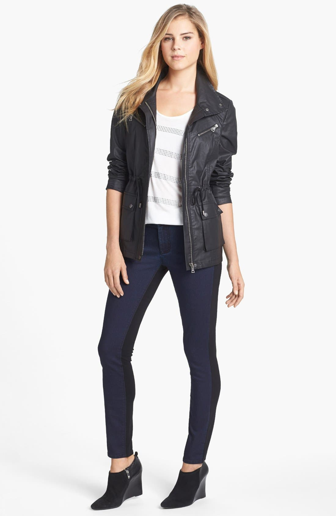 Alternate Image 4  - Two by Vince Camuto 'Urban Safari' Coated Cotton Anorak