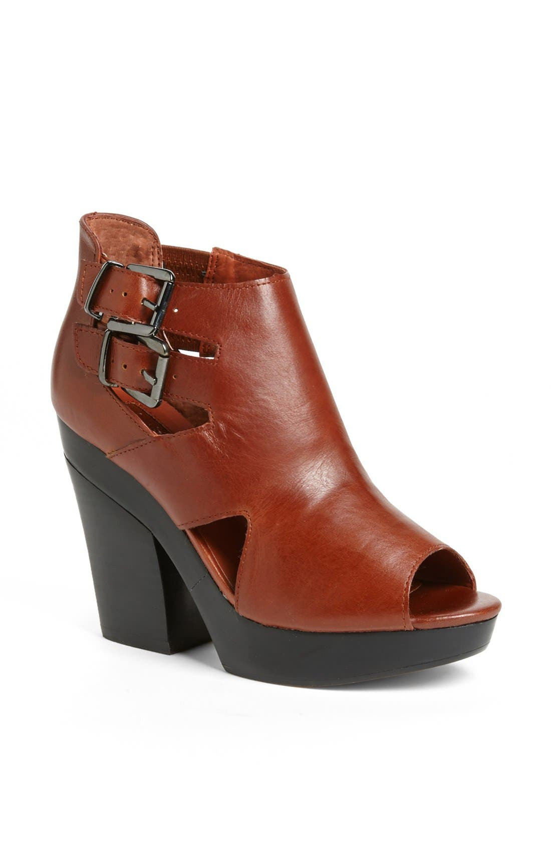 'George' Buckle Bootie,                             Main thumbnail 1, color,                             Tan