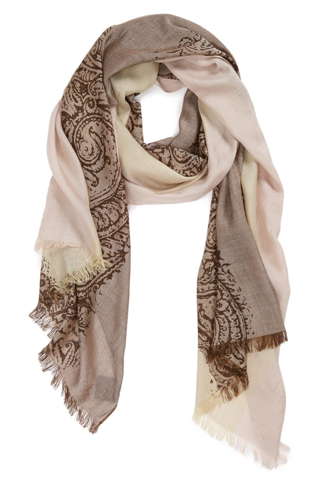 Alternate Image 1 Selected - Vince Camuto Paisley Scarf
