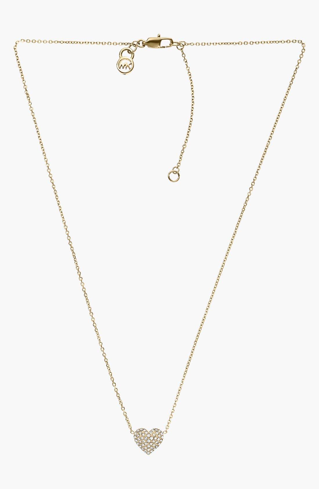 Alternate Image 2  - Michael Kors 'Brilliance' Pavé Heart Necklace