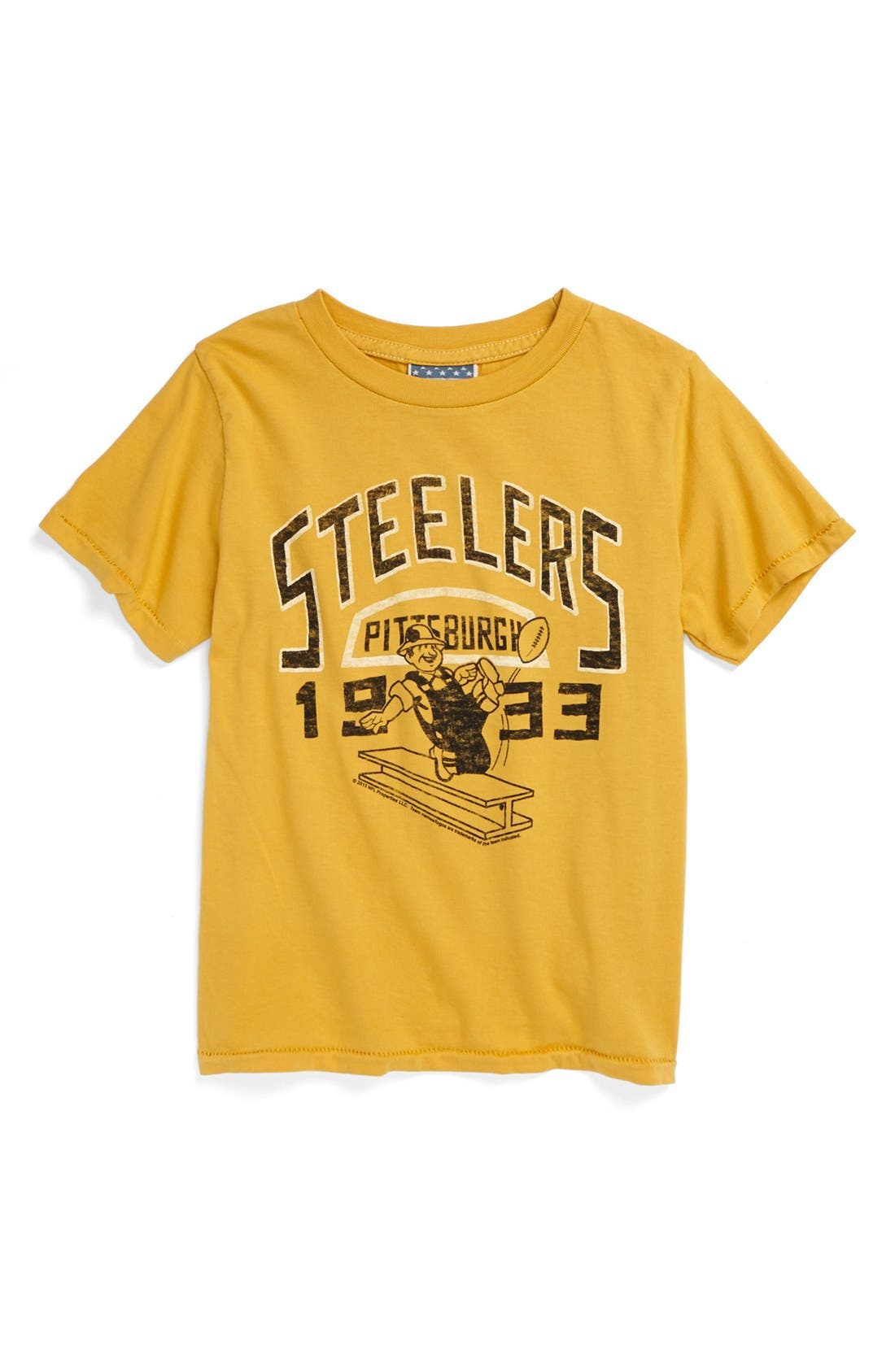 Alternate Image 1 Selected - Junk Food 'Pittsburgh Steelers' T-Shirt (Toddler Boys)