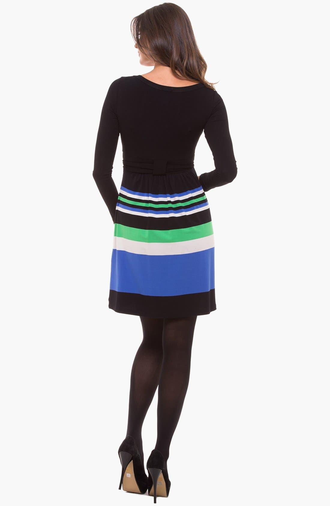 Alternate Image 2  - Olian Scoop Neck Maternity Dress