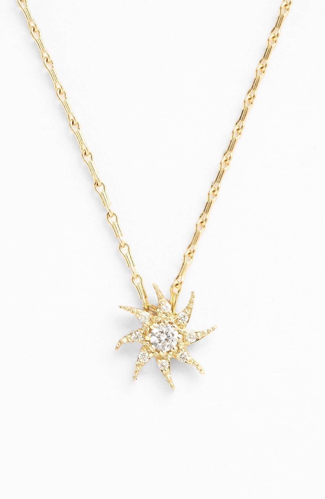 Alternate Image 2  - Mizuki 'Wings of Desire' Diamond Sun Pendant Necklace