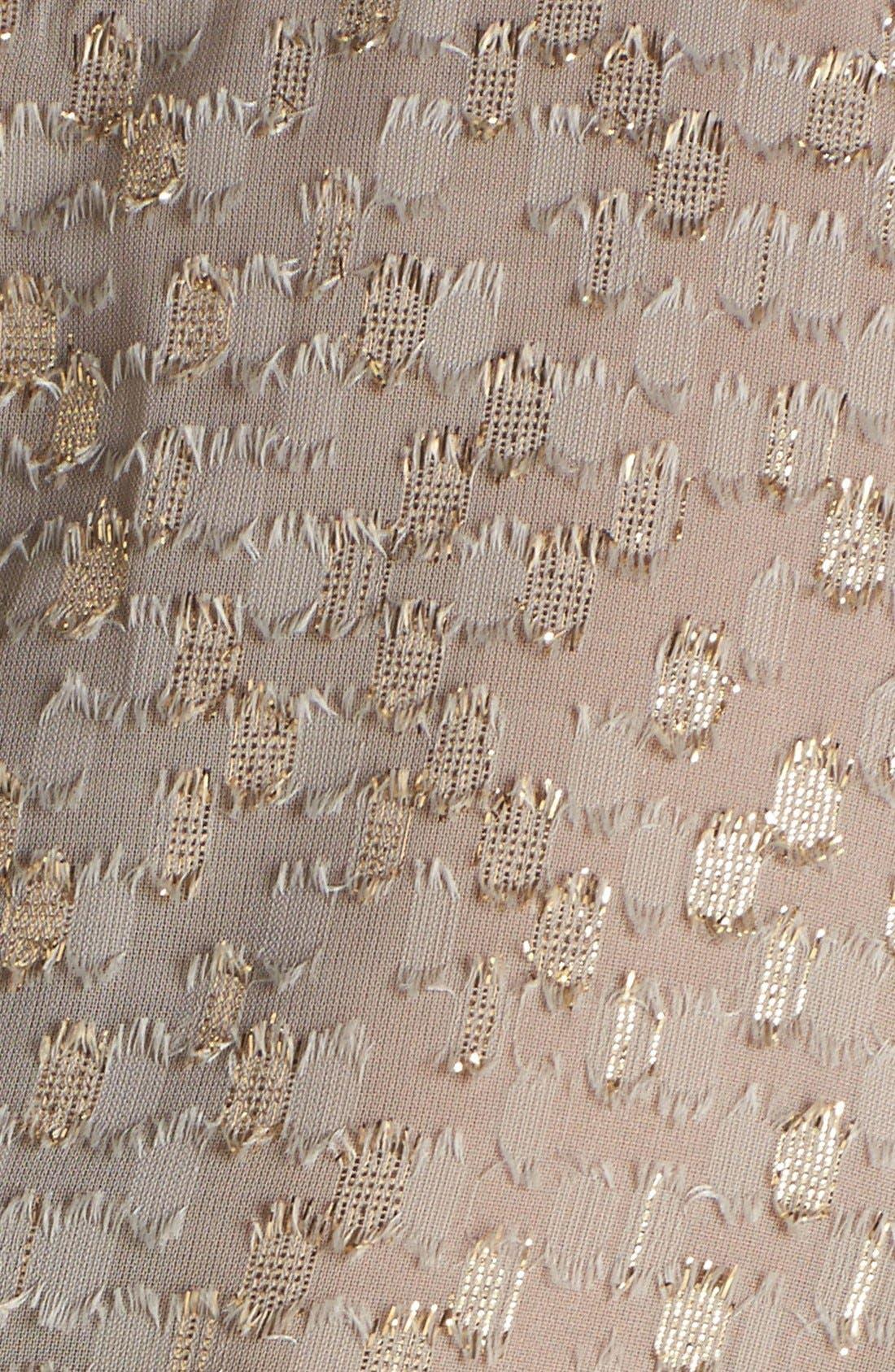 Alternate Image 3  - ASTR Crochet Fringed Metallic Shell