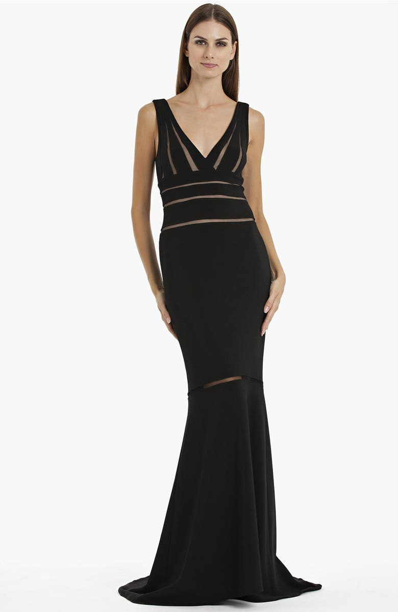 JS Collections Illusion Cutout Mermaid Gown   Nordstrom