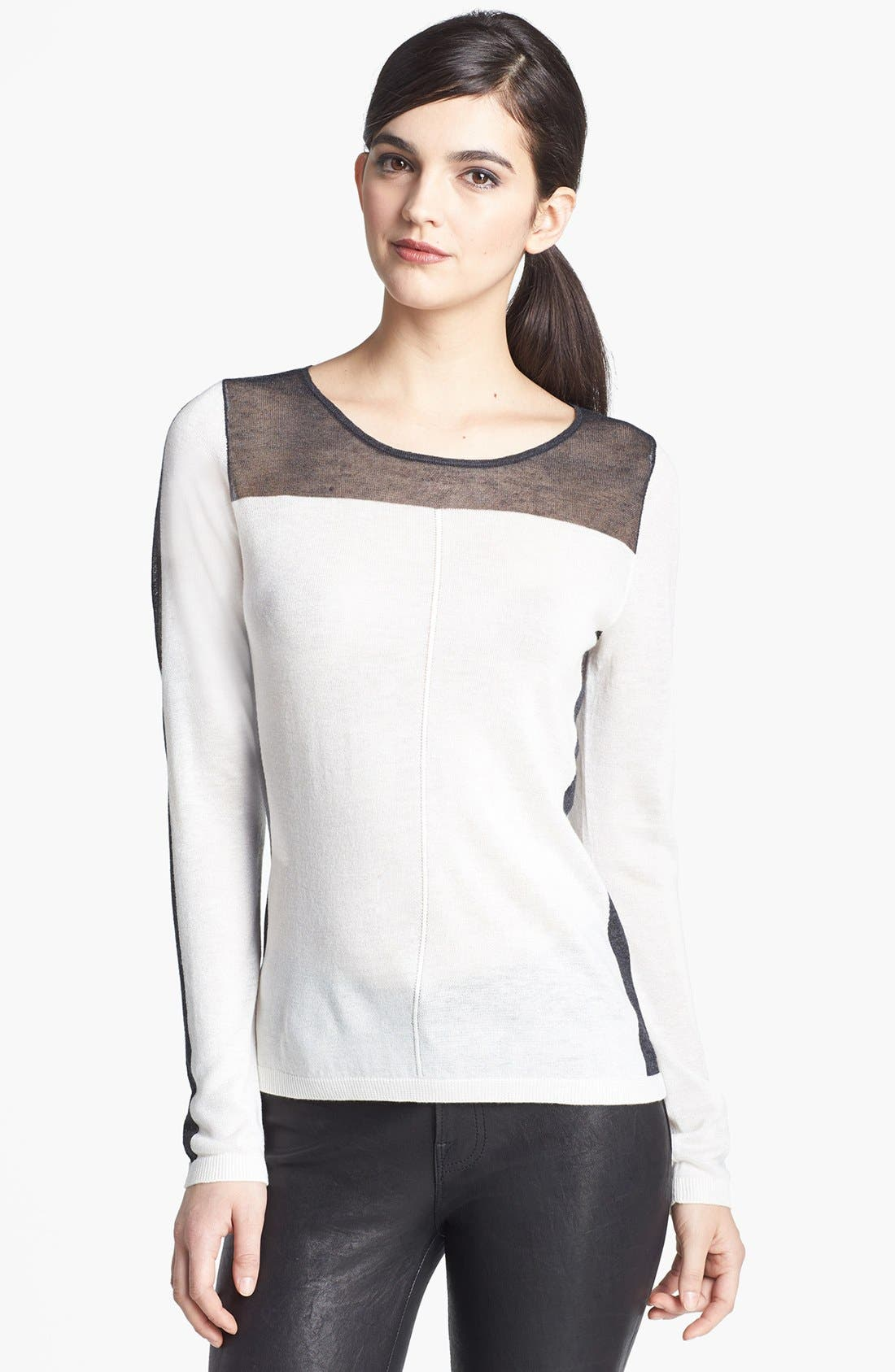 Alternate Image 1 Selected - Trouvé Sheer Trim Sweater