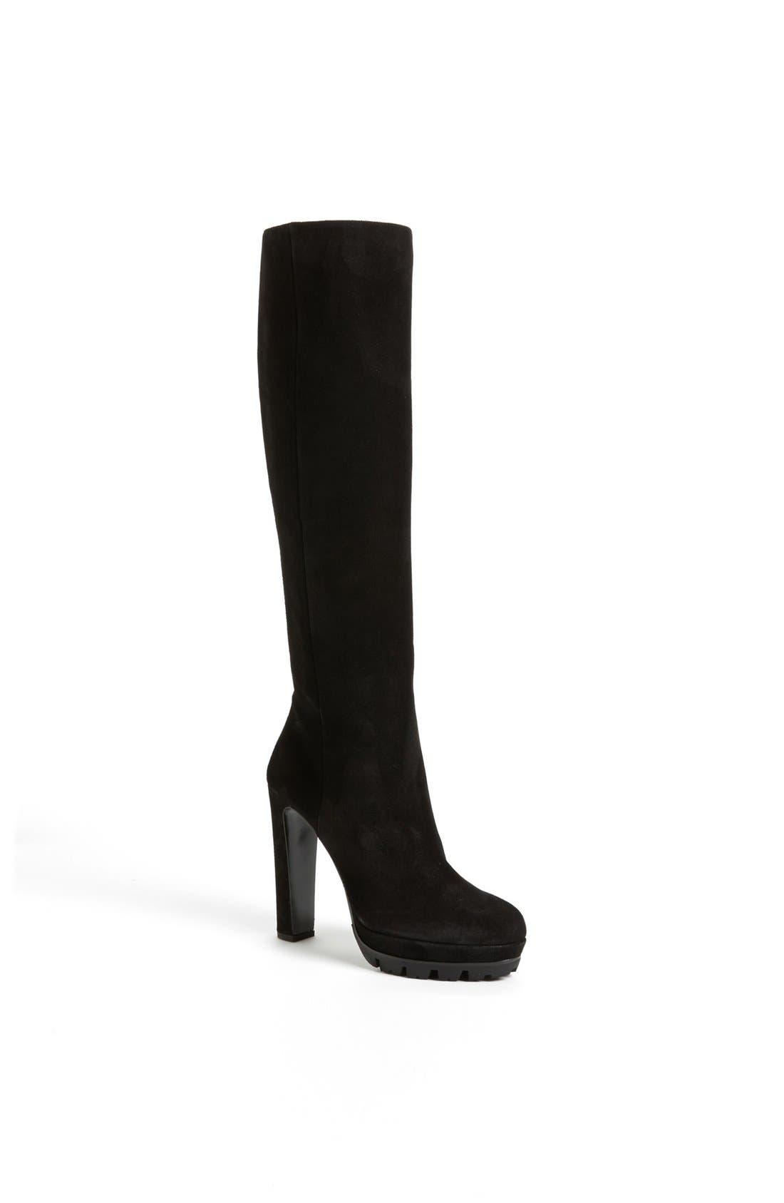 Main Image - Prada Lug Sole Tall Boot