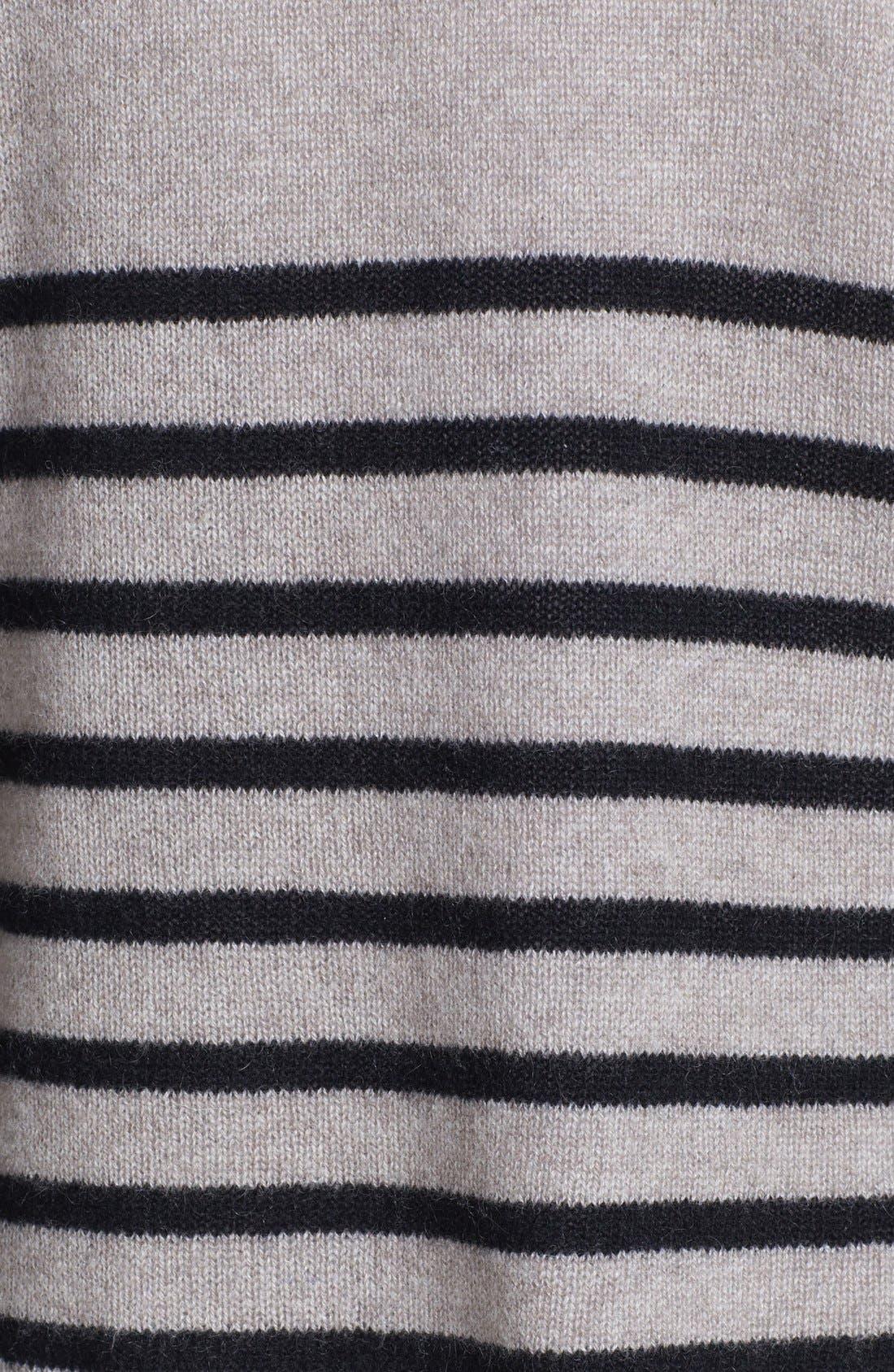 Alternate Image 3  - Halogen® Stripe Crop Cashmere Sweater