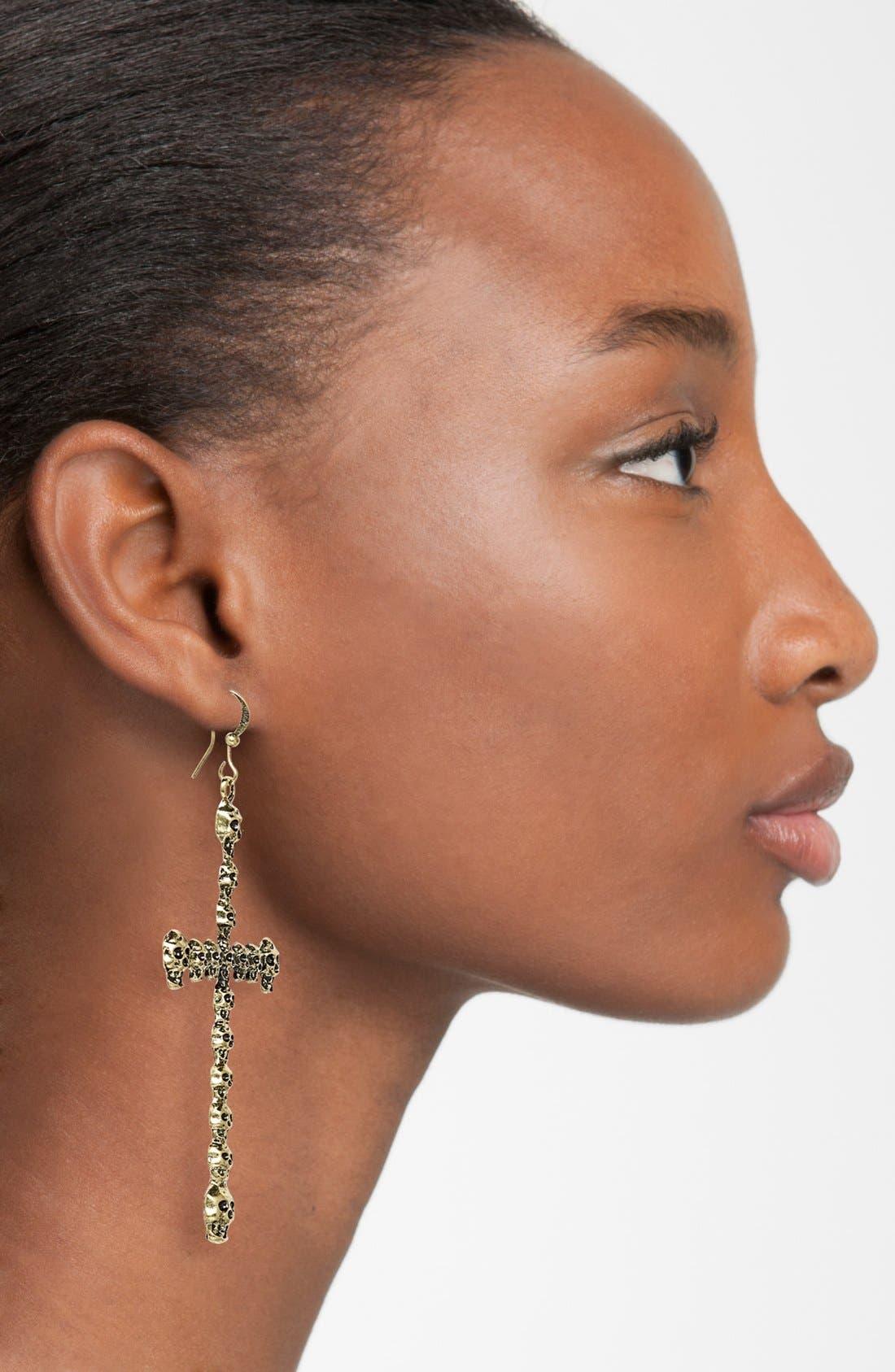 Alternate Image 2  - Guinevere 'Skull Cross' Earrings