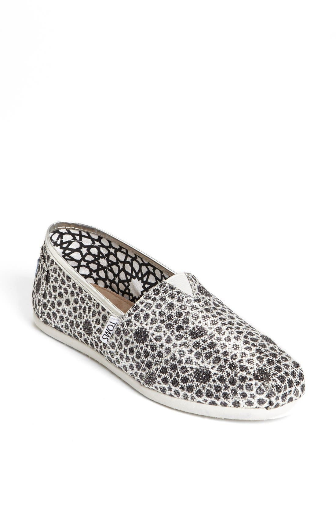 Alternate Image 1 Selected - TOMS 'Seasonal Classic - Moroccan Glitter' Slip-On (Women)