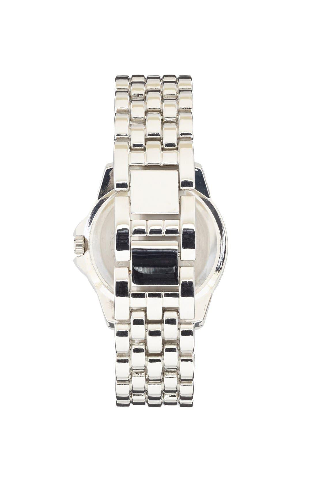 Alternate Image 2  - Titanium Rhinestone Watch, 35mm (Juniors) (Online Only)