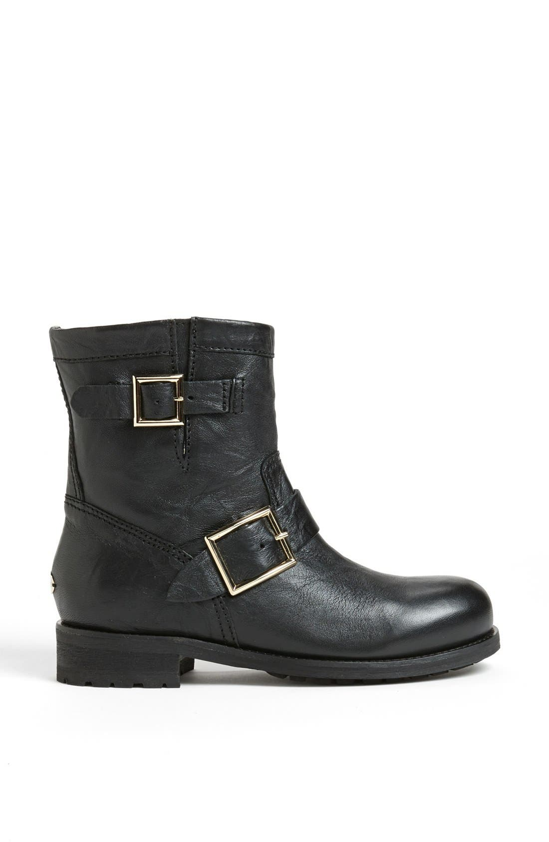 Alternate Image 4  - Jimmy Choo 'Youth' Short Biker Boot (Women)