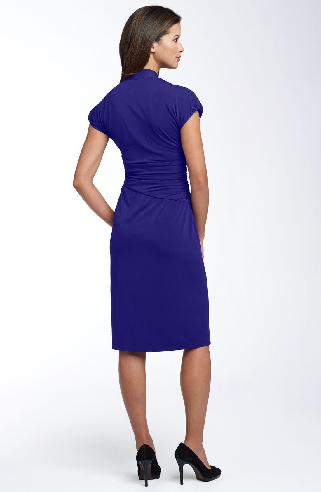 Alternate Image 2  - Ivy & Blu Ruched Faux Wrap Dress