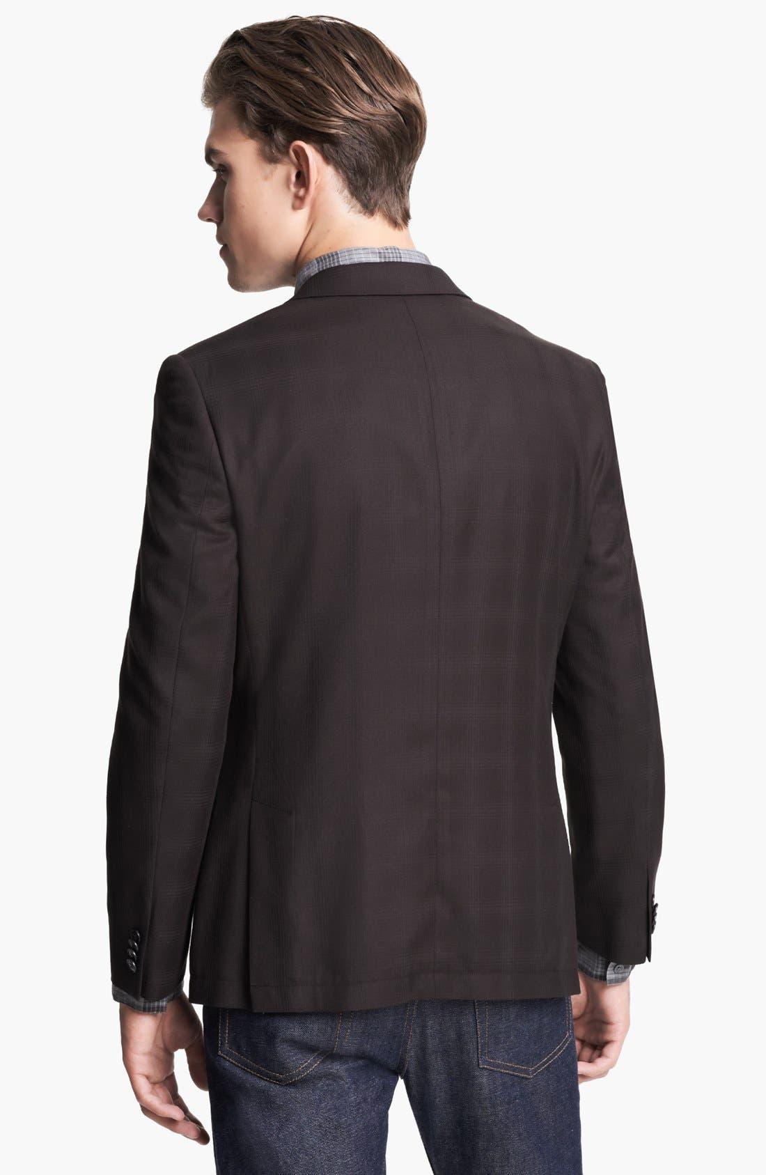 Alternate Image 3  - John Varvatos Star USA Plaid Peak Lapel Sportcoat