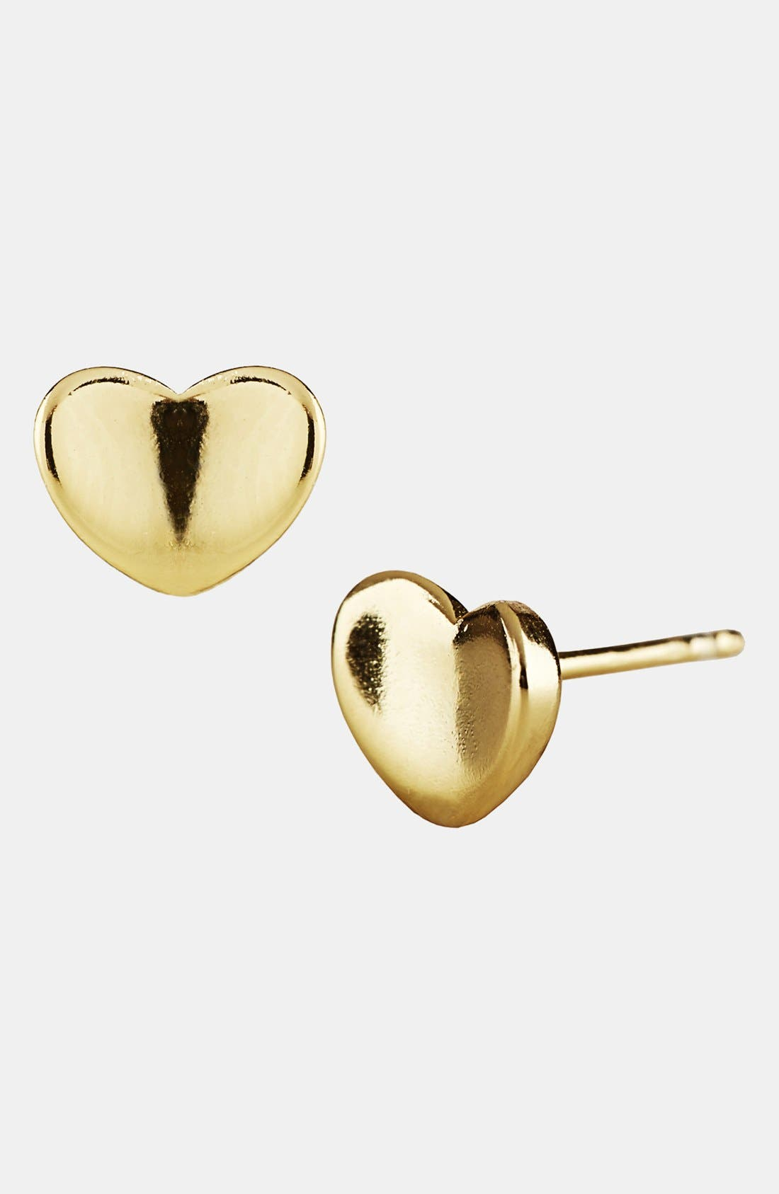 Main Image - Argento Vivo Heart Stud Earrings