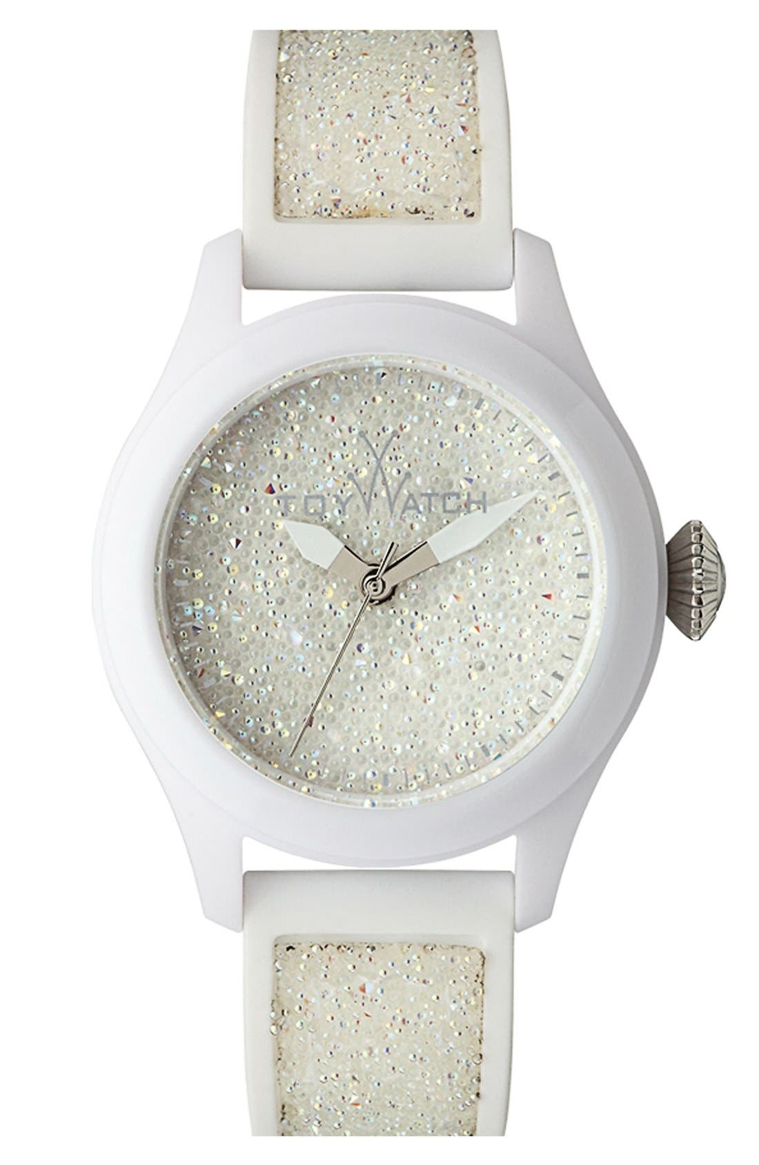 Alternate Image 1 Selected - TOYWATCH 'Glitter' Silicone Strap Watch, 38mm