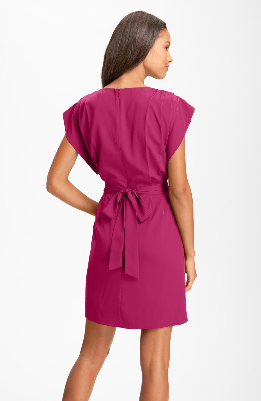 Alternate Image 2  - Eliza J Drape Sleeve Sash Belt Dress