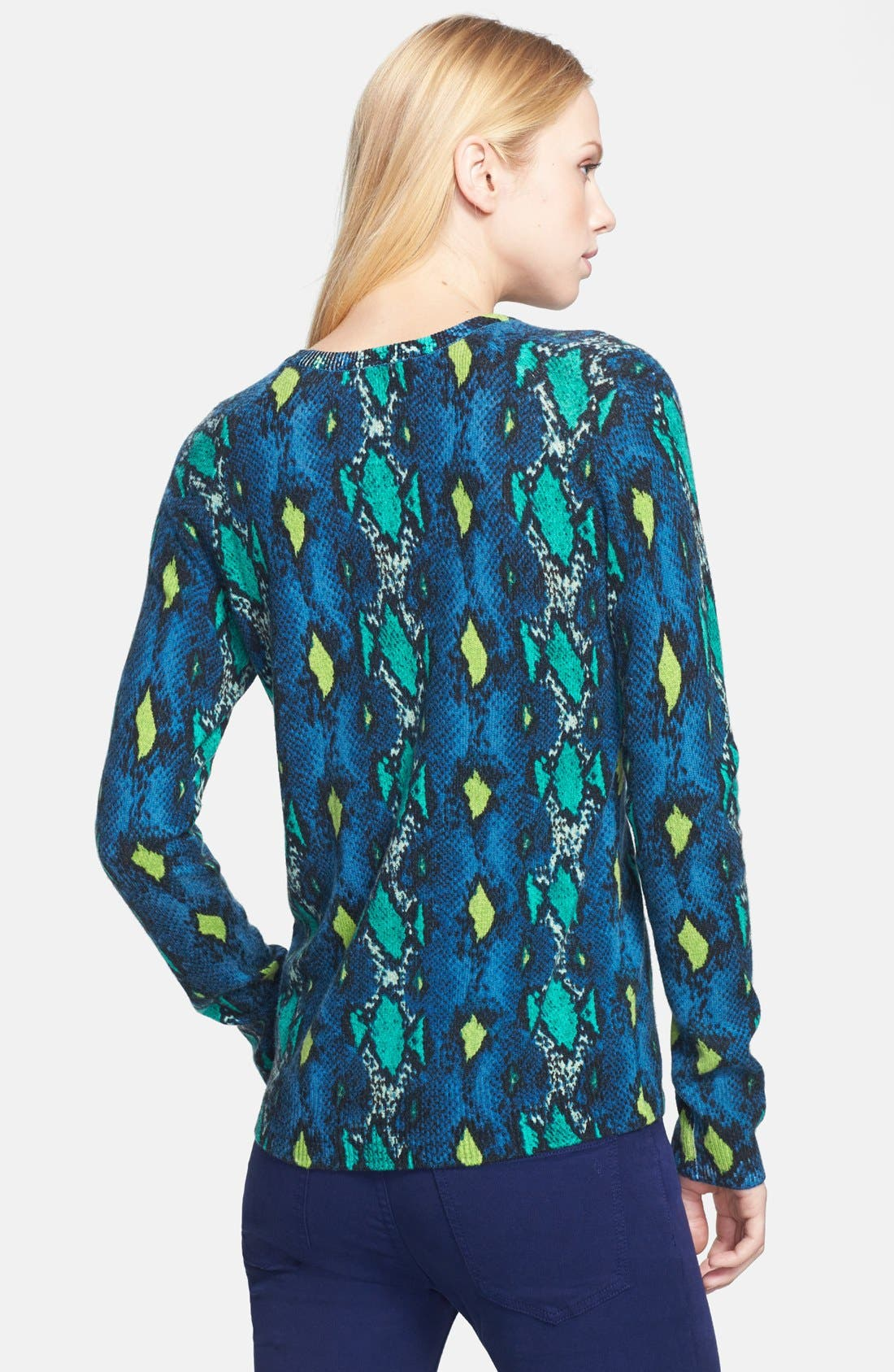 Alternate Image 2  - Equipment 'Sloane' Snake Pattern Cashmere Sweater