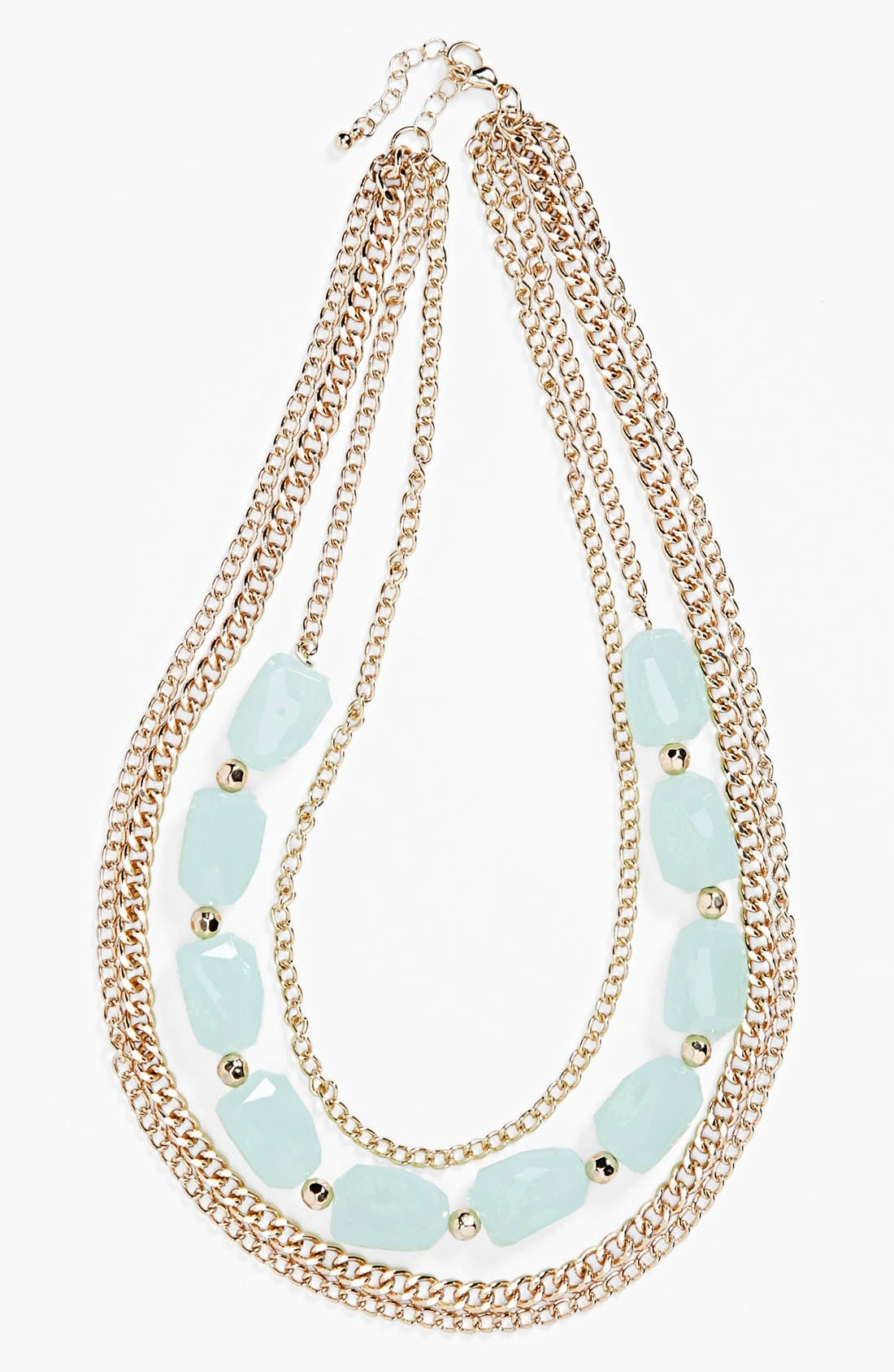 Alternate Image 1 Selected - BP. Stone Multi Chain Necklace (Juniors)