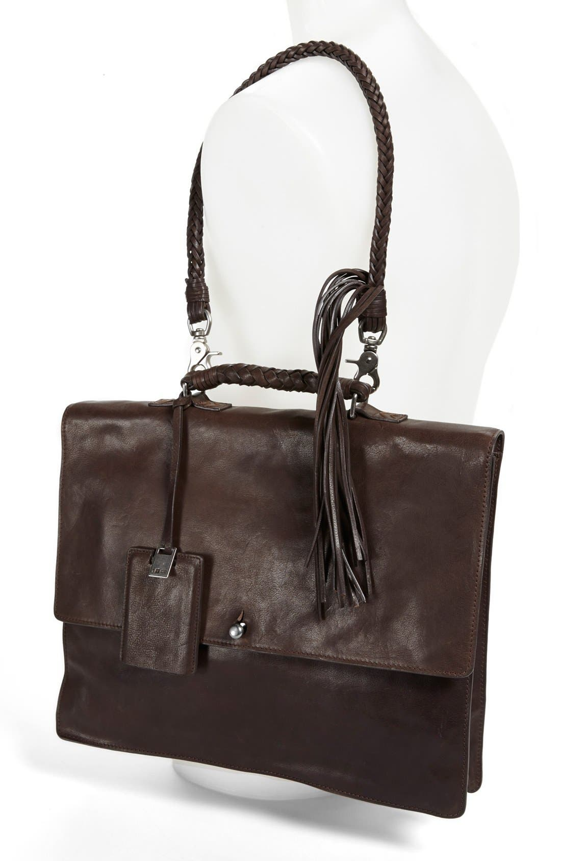 Alternate Image 2  - John Varvatos Collection Leather Briefcase