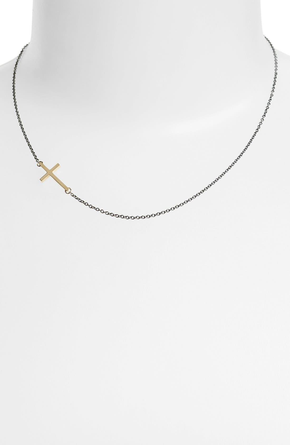 Alternate Image 1 Selected - Mizuki Cross Station Necklace