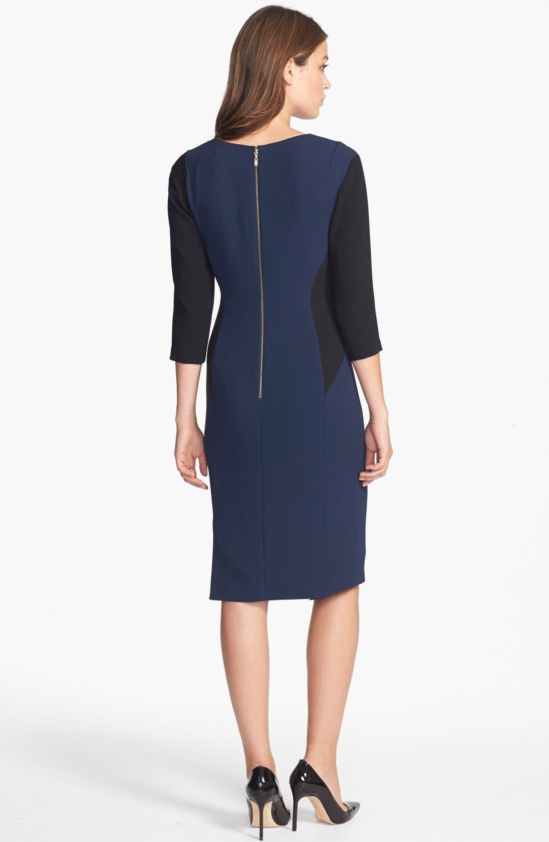 Alternate Image 2  - Rachel Roy Colorblock Crepe Sheath Dress