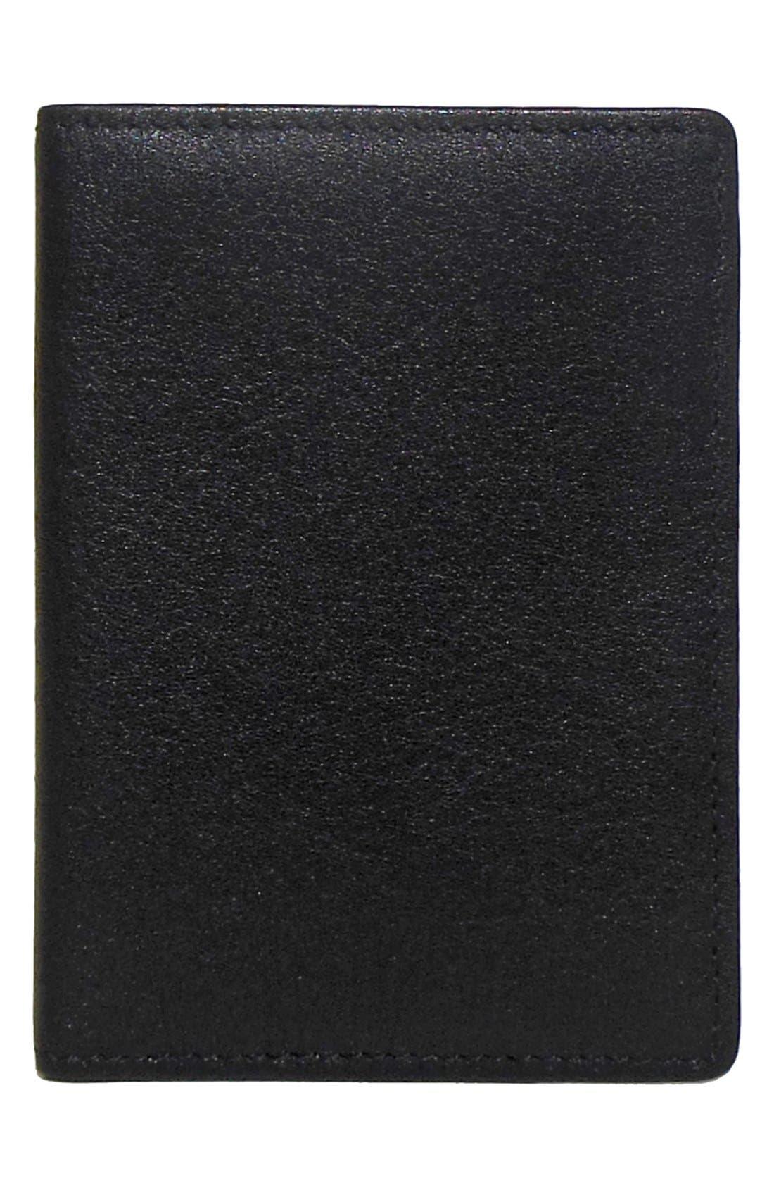 Alternate Image 1 Selected - Boconi 'George' RFID Blocker Slim Leather Card Case