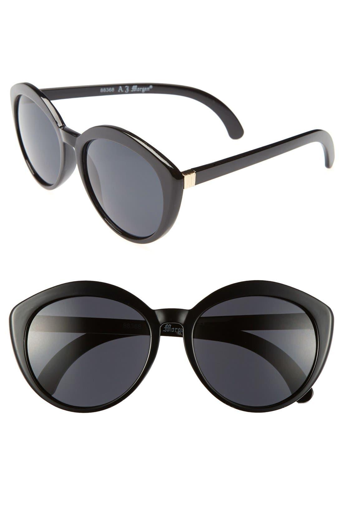 Main Image - A.J. Morgan 'Greta' 57mm Retro Sunglasses