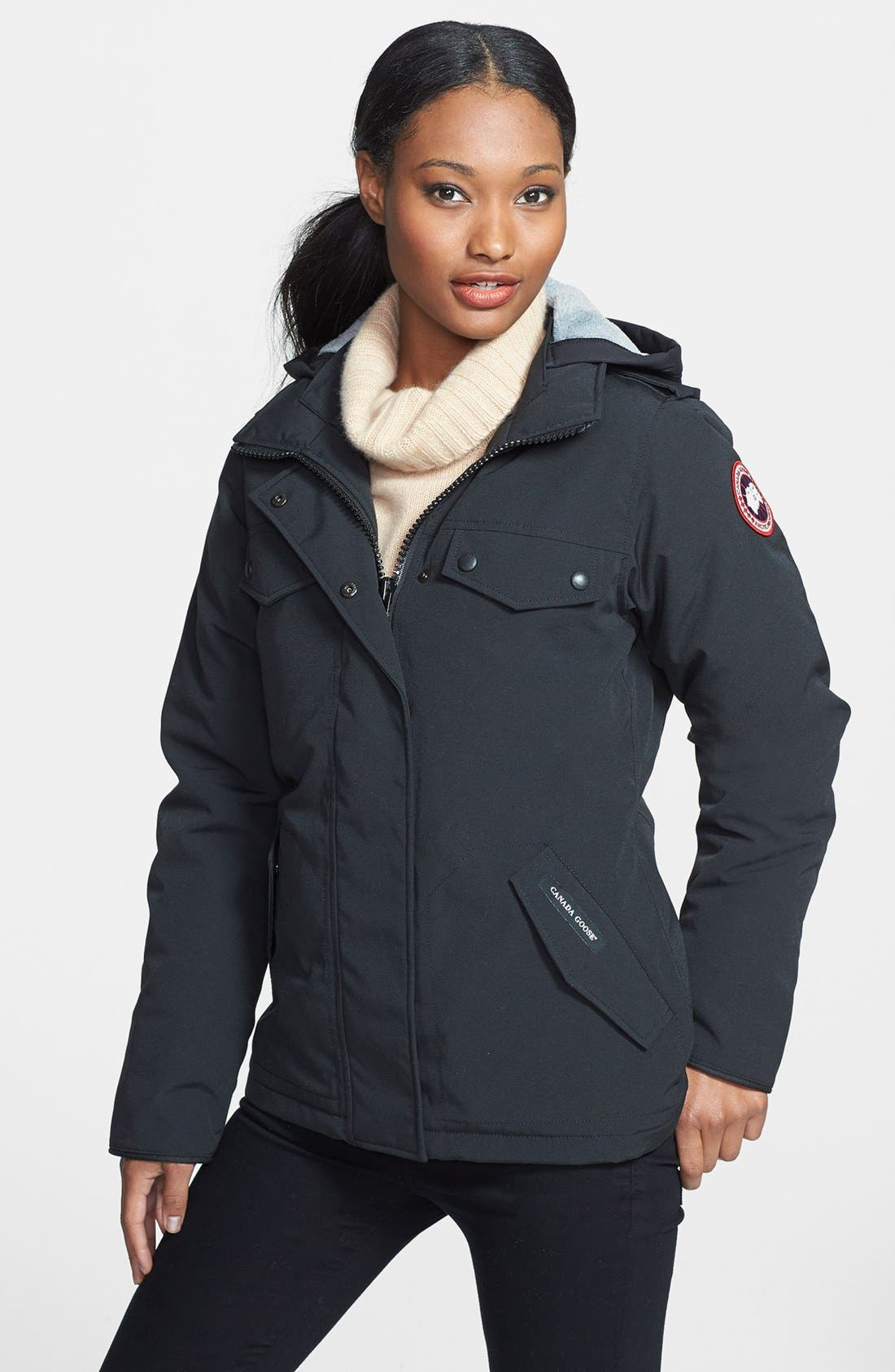 Alternate Image 1 Selected - Canada Goose 'Burnett' Down Jacket with Removable Hood