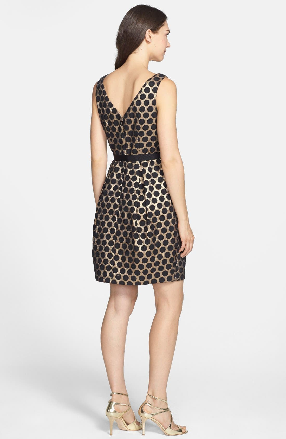 Alternate Image 2  - Eliza J Dot Jacquard Fit & Flare Dress