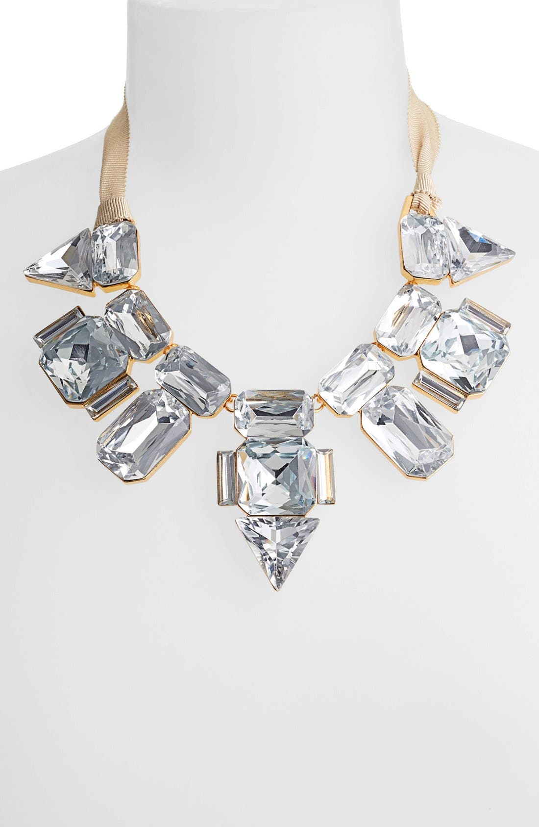 Alternate Image 2  - Vince Camuto 'Crystal Clear' Crystal & Ribbon Statement Necklace