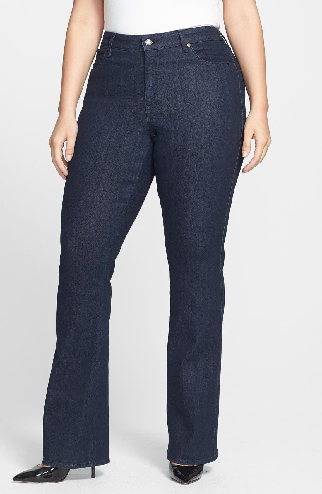 Main Image - CJ by Cookie Johnson 'Grace' Bootcut Stretch Jeans (Plus Size)