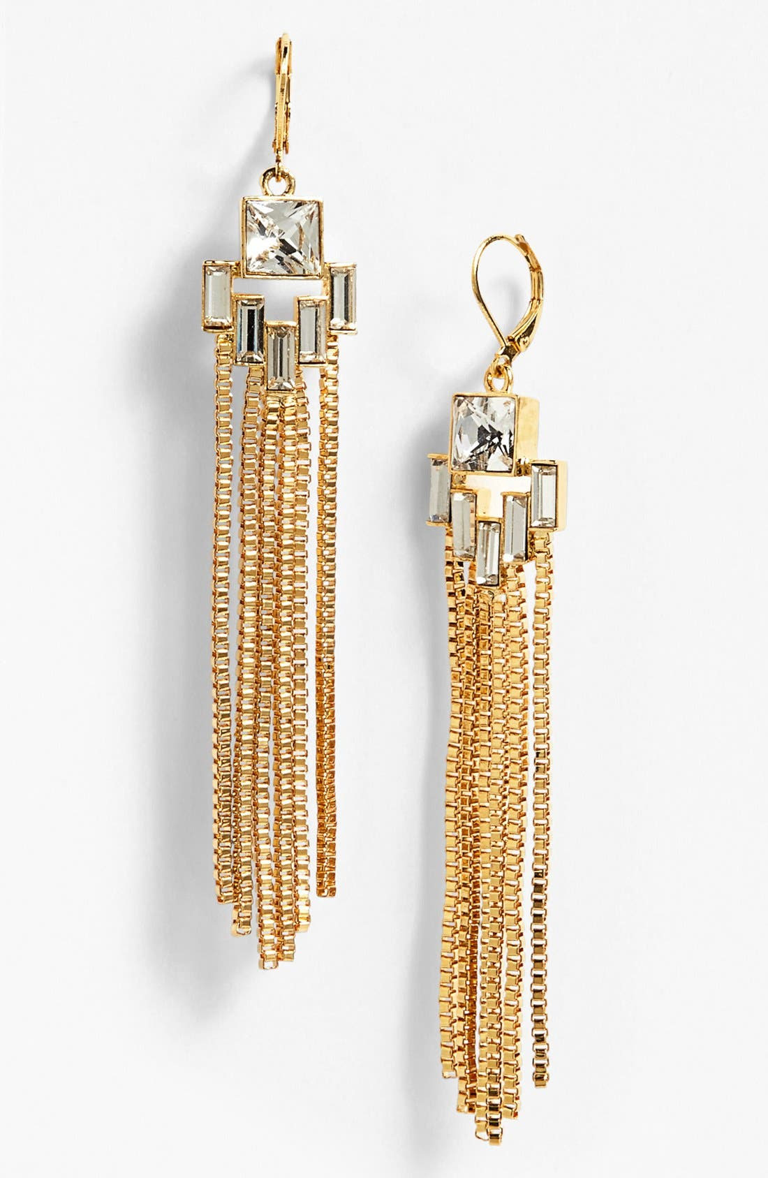 Alternate Image 1 Selected - Vince Camuto 'Crystal Clear' Fringe Earrings